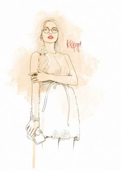 Eyewear fashion and lipstick!