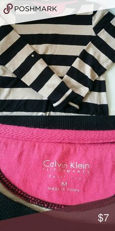 Calvin Klein tan and black striped sweater tan and black  💖 offers! Reasonable offers please! 🚫 trades, 🚫 holds. Calvin Klein Sweaters