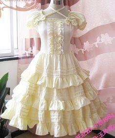 yellow lolita dress
