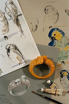 Cartier / Sketches and Model for Parrot Bracelet