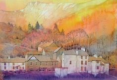 Patterdale Cumbria.... great as an exercise for pouring watercolour