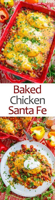 Baked Chicken Santa Fe