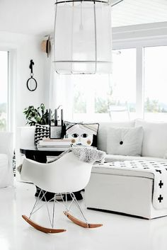 Scandinavian living room, Ay Illuminate Z1 cotton lamp. from Forever Love blog