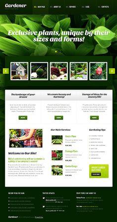 Gardener Exterior WordPress Themes by Elza