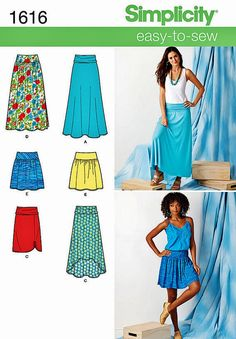 Misses' Skirt Pattern New Simplicity Pattern 1616 Hi Lo by blue510