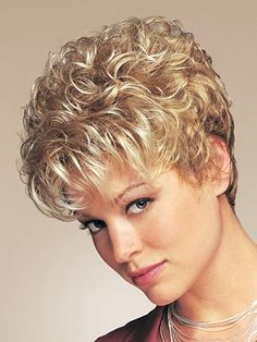 Acclaim Petite Synthetic Wig by Eva Gabor – Hair Style Short Permed Hair, Short Grey Hair, Short Hair With Layers, Curly Hair Cuts, Short Wigs, Short Hair Cuts For Women, Curly Hair Styles, Wavy Layers, Curly Short