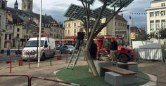 France plants first solar eTree in midst of heat wave