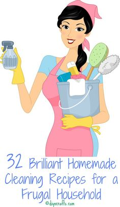 32 homemade cleaning recipes for a frugal household