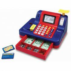 Toy Cash Register Teaching Toy $52.97 http://www.educationaltoysplanet.com/teaching-cash-register.html