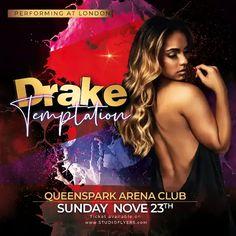 Download the Free Club Temptation Instagram Template! Free Psd Flyer Templates, Flyer Free, Print Templates, Instagram Banner, Club Flyers, Types Of Girls, Club Parties, Girls Night, Night Club