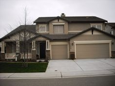 Exterior Colours Dark Brown Roof Creamy Trim Mid Tone Neutral Siding