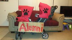 Football Helmet Double Stroller covers Parade and Halloween