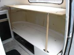 Turn the bench bed into a bunk for extra sleeping