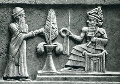 The (Sumerian) Tree of Life between Ur-Namma (left) and Enlil (right)