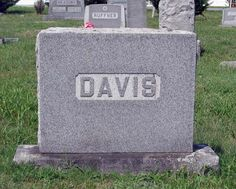 Jollett Etc.: Tombstone Tuesday: The Davis Plot #genealogy