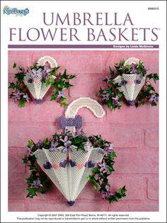 Plastic Canvas - Wall & Door Hanging Patterns - Other Patterns - Umbrella Flower Baskets