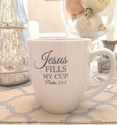 Jesus Fills My Cup | 16oz Ceramic Bistro Mug