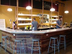 Reclaimed Wood Under Bar At Jubala Village Coffee In Raleigh NC Dont Coffeehouses Make For Great Out Of Office Workspaces