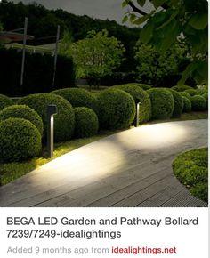 Light Hillside Pathway Behind House Bega Led Garden And Bollard