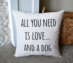 If you love your dog - you need this pillow in your home! This is also a great gift for the dog lover in your life.  This 16x16 pillow is made with... #DecorativePillows