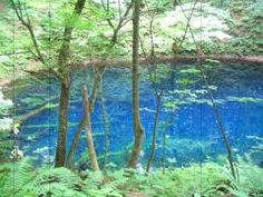 Blue pond in Shirakamisanchi