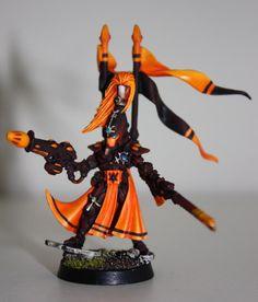 Craftworld Yme-Loc Autarch w/ fusion-blaster, scorpion chainblade & mandiblaster.