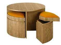 Round Dining Table And Chairs Space Saver: Table Stools Space Saving Comfort Style Furniture