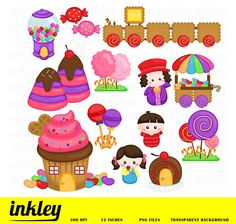 50%OFF Candyland Fantasy Clipart  Cute Clipart Candy