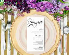 Calligraphy Menu by fineanddandypaperie on Etsy