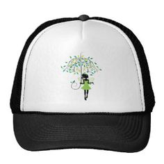 Fairy with Floral Umbrella 2 Trucker Hat