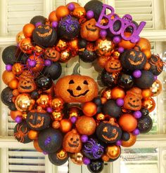 Boo Halloween Ornament Wreath  Ornament by MemphisMomWreaths, $65.00