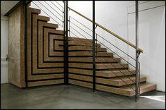 Stairway by Carlo Scarpa in the Fondazione Querini Stampalia - Castello, Venice, Italy