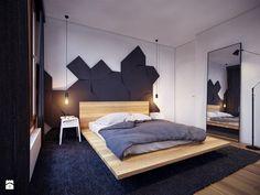 Umiejętnie użyty ciemny kolor może nadać sypialni wyjątkowego charakteru. Podoba Wam się?   Wpadnijcie do http://eurostandard.pl/ po inspiracje i wszystkie potrzebne materiały! :)  Foto: http://www.homebook.pl/inspiracje/sypialnia/115133_the-freshmaker-sypialnia-styl-nowoczesny