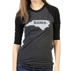 The North Carolina Home Baseball T (3/4 length sleeve) is insanely soft, a great way to show off your state pride, and helps to raise money for multiple scleros