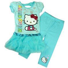 $22.00 (Buy here: https://alitems.com/g/1e8d114494ebda23ff8b16525dc3e8/?i=5&ulp=https%3A%2F%2Fwww.aliexpress.com%2Fitem%2FRetail-girls-printed-kt-cat-dress-pants-2pcs-set-kids-cartoon-hello-kitty-short-sleeve-striped%2F1498860792.html ) Retail girls printed kt cat dress +pants 2pcs set kids cartoon hello kitty short sleeve striped t shirt trousers fashion wear for just $22.00