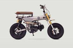 "Honda CT70 Scrambler ""Junior"" by Classified Moto: Livin' The Dream https://www.designlisticle.com/honda-ct70-scrambler-junior-by-classified-moto-livin-the-dream/"