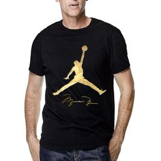 e85a8e5e1031 Air Jordan Jump Gold Signature for Men T Shirt  Canvas  GraphicTee Cool  Shirts