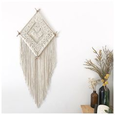 Work of @autumn_house_brisbane #macranewallhanging #macramewalldecor #handmade #macrame #wallhanging #fiberart #textileoftheday #bohohome…