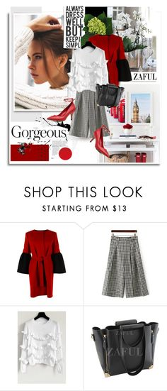 """""""Zaful.com: Gorgeous!"""" by hamaly ❤ liked on Polyvore featuring Albino, dress, ootd, bags and zaful"""
