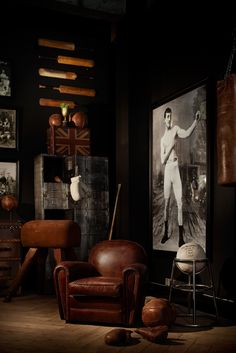 ♂ masculine sports inspired interior design