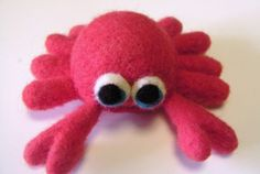 How to attach legs and how to make a cute Felted Crab