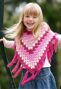 granny square girl's poncho pattern