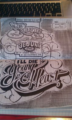 Very cool hand lettering