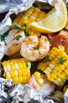 These low country boil foil packets are a breeze to make and packed full of…