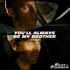 "Vin Diesel Stills @vindieselgallery - ""You'll always be my brot...Yooying"