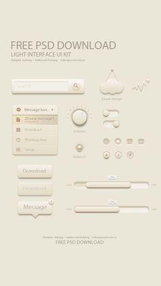 Free Light UI Kit - love the pearls.