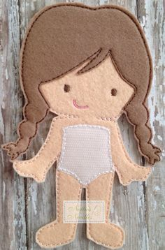 Felt Marie Doll by NettiesNeedlesToo on Etsy, $7.00...dress up doll in felt