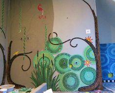 rainbow mosaic bathrooms | Mosaic Bathroom WIP by Waschbear - Frances Green