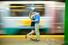 Subway Magic! A beautiful engagement shoot in a beautiful city