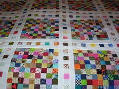 Postage stamp quilt,Click to view large image